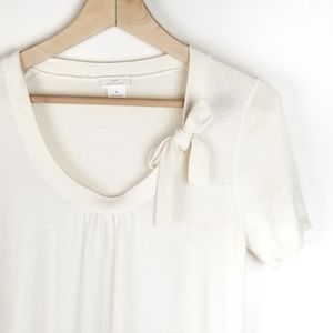 J.Crew Cashmere Top with Bow Size Medium